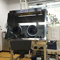電気化学測定用1人用Ar置換グローブボックス